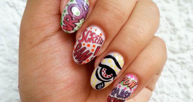 Tatuaggi per unghie: nail art pop art - http://www.beautydea.it/tatuaggi-unghie-nail-art-pop-art/ - Avete mai provato i tatuaggi per unghie? Ecco il tutorial per imparare ad usarli e creare una nail art spettacolare!