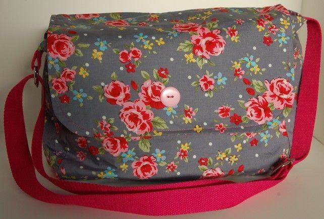 Grey Rose Print Handbag £25.00