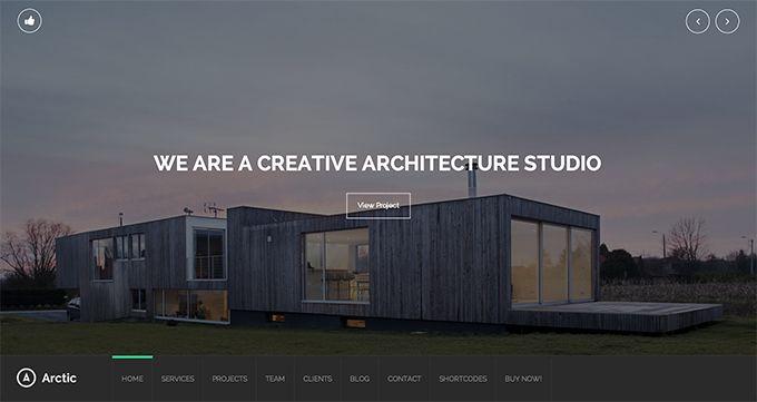Artic - a photography/portfolio WordPress theme