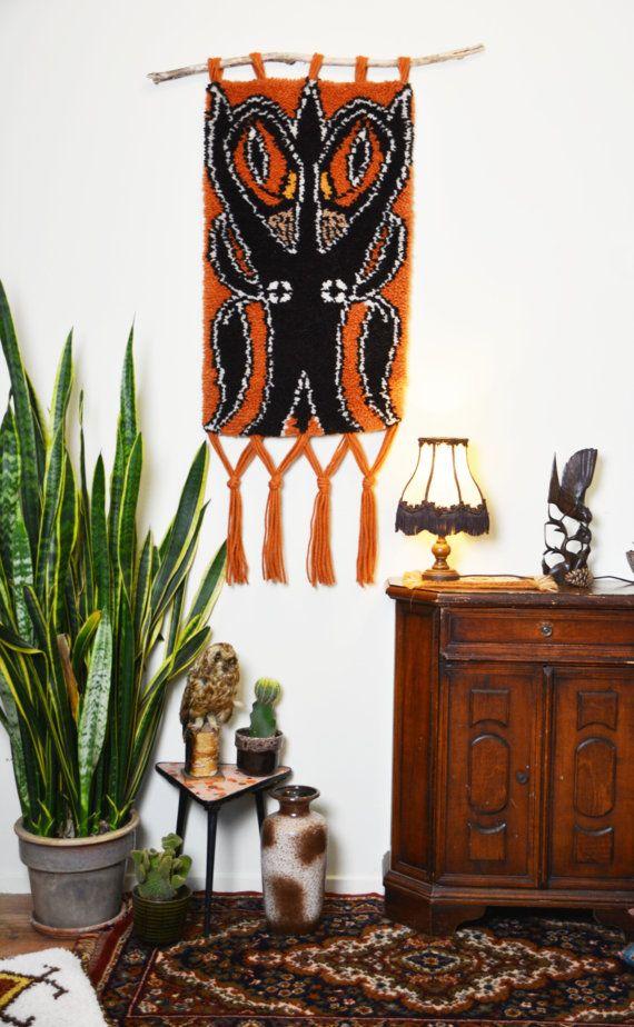 Vintage Boho Wall Hanging Owl from Dancers Road Vintage shop on Etsy!
