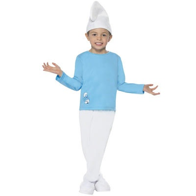 Kids The Smurfs Movie Fancy Dress Halloween Party Boys Smurf Costume   Preview
