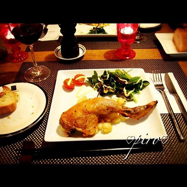 去年のクリスマス - 26件のもぐもぐ - 骨付き鶏もも肉のコンフィのディナー by ピロ