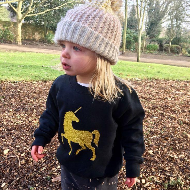 Unicorn Sweater: Black, kids unicorn sweater, girls unicorn jumper. kids unicorn sweatshirt