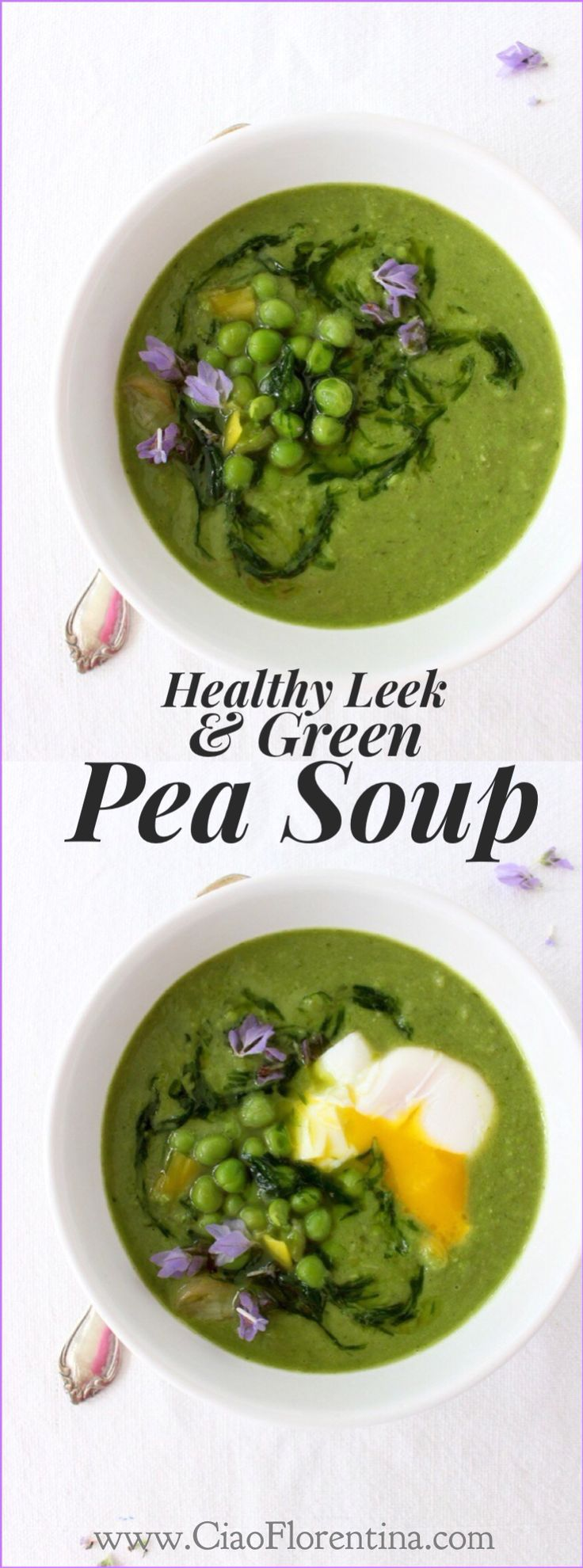 Healthy Leek Soup with Chive Oil and Green Peas | CiaoFlorentina.com ...
