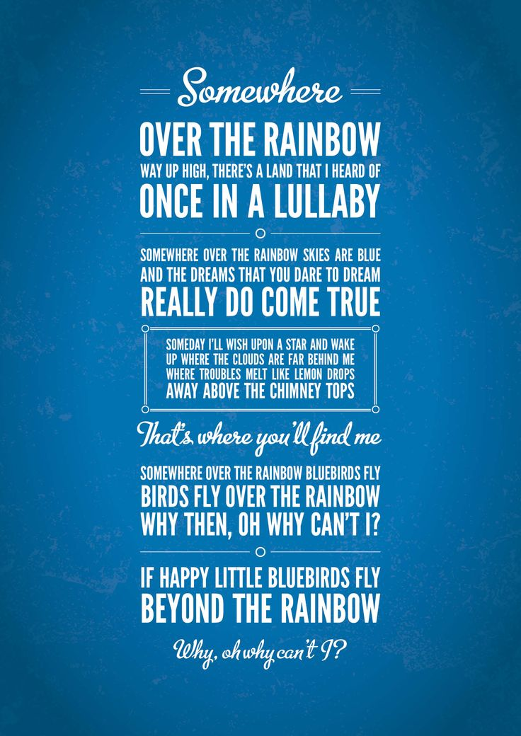 Somewhere Over the Rainbow, Judy Garland