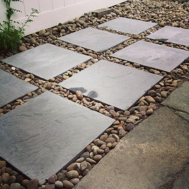 We Have A Small Backyard And Tiny Patio Just Expanded Our By Adding 8 18x18 Paver Stones To The Side Border Of Design Ideas In