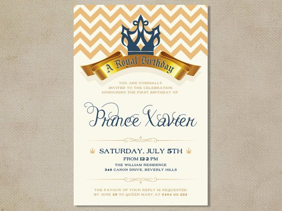 25 best images about Gabe prince party – Prince Party Invitations