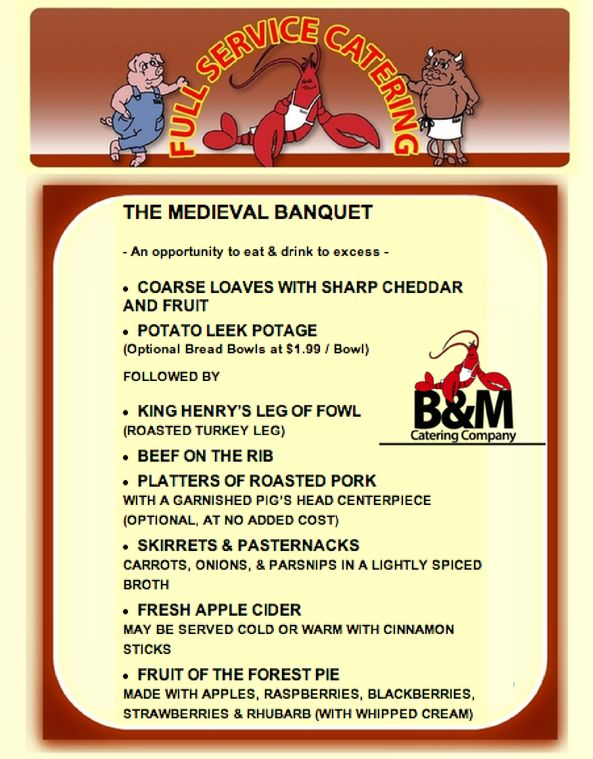 28 best images about event menus catering options bampm