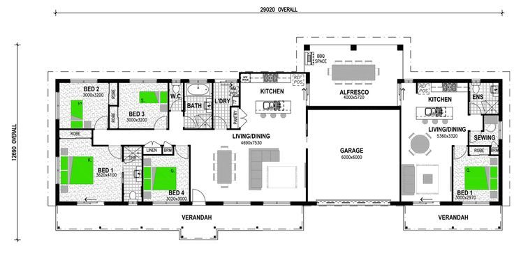 Best 25 granny flat plans ideas on pinterest granny - Home design with attached granny flat ...