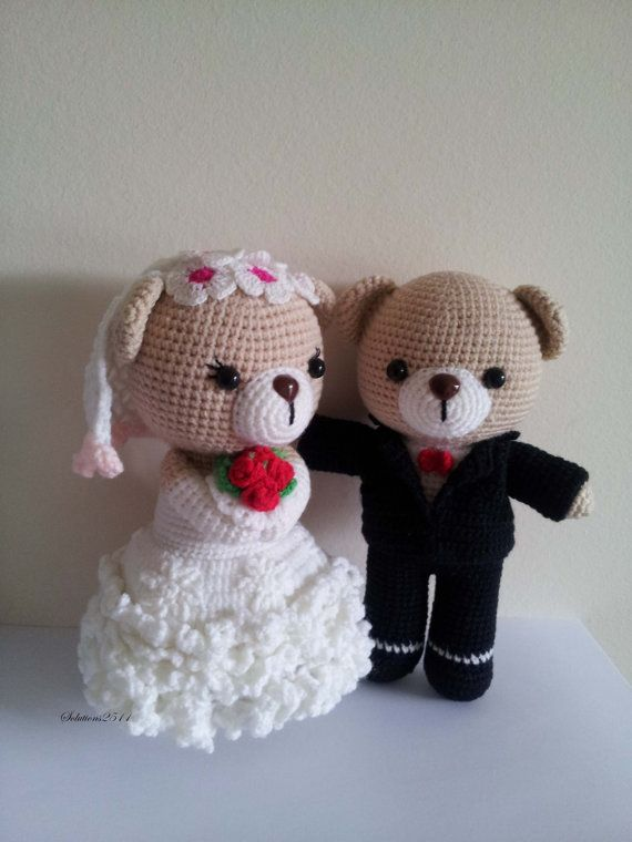 Braut und Bräutigam Puppen Hochzeit Häkeln Puppen von Solutions2511, £34.50