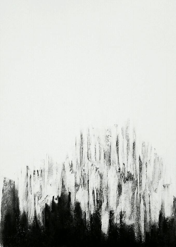 Erin Hegg | The Light is Winning, 2013 | Charcoal