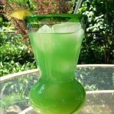 Lucky Leprechaun (1 oz southern comfort  1/2 oz midori melon liqueur  1/2 oz malibu rum  6 oz pineapple juice  1 dash blue curacao)
