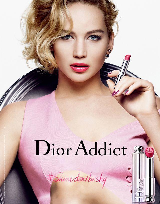 Jennifer Lawrence stars in the new Dior Addict lipstick campaign