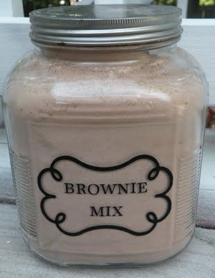 jade jewellery Homemade Brownie Mix  8c sugar  6c flour  2c cocoa  1