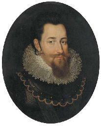 Follower of Pieter Isaacsz, portrait of Christian IV, King of Denmark and Norway (1577-1648), 1614 (via Christie's)