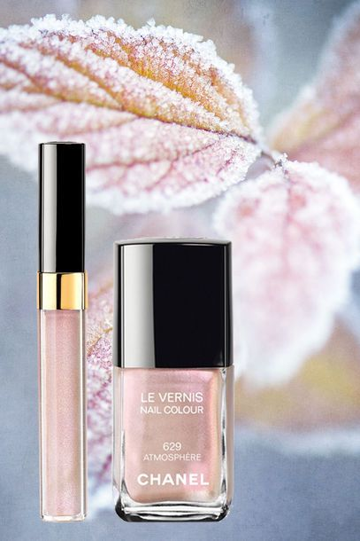 Make-up 2014-2015 Winter Moods Iced Sugar Chanel Atmosphère Nail Polish + Chanel Lipgloss Songe