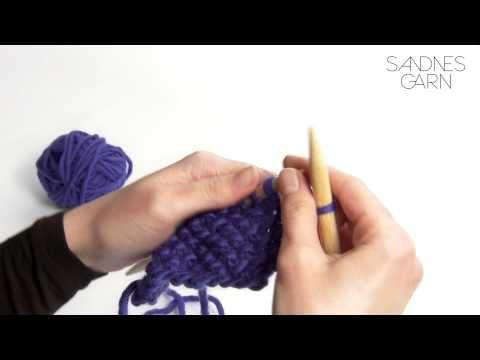 Sandnes Garn - Hvordan strikke enkel perlestrikk - YouTube
