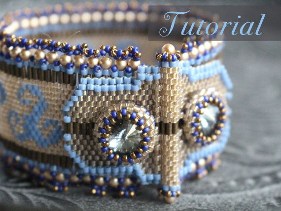 Tutorial for beadwoven peyote bracelet by TrinketsBeadwork on Etsy