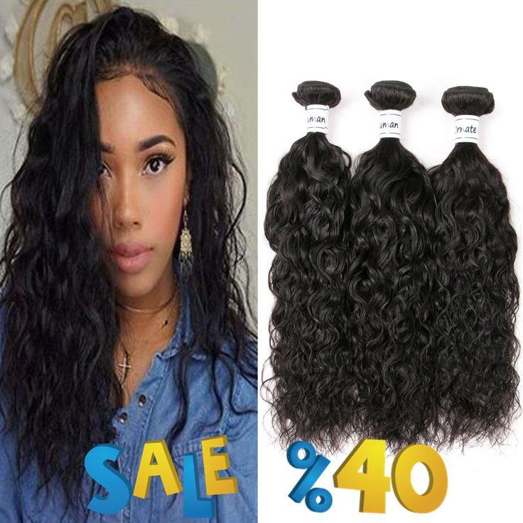 Ornate Hair 8A Grade Virgin Brazilian Natural Wave Hair 3 Bundles 100% Unprocessed Cheap Human Hair Extensions Natural Black Color Total 300g Full Head(18 20 22 inches)