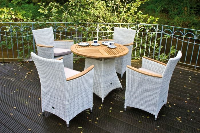 Möbel aus Polyrattan sitzgruppe kaffee set