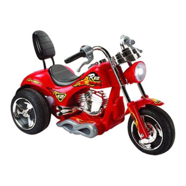 Mini Motos Red Hawk Motorcycle Battery Powered Riding Toy - Red - MM-GB5008_RED