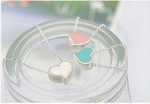 Hot- verkopen mode-sieraden metalen tags voor sieraden vrouwelijke hart zoete perzik hart ketting 4r0058(China (Mainland))