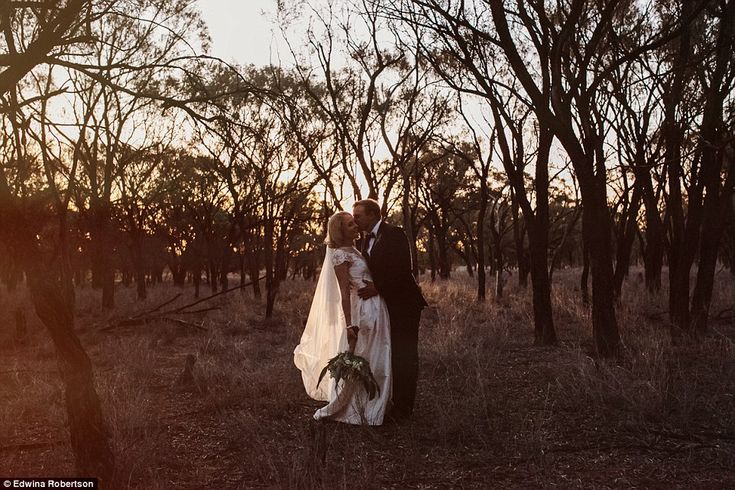 Ingrid said it was fantastic that their wedding day had managed to raise so much money fo...