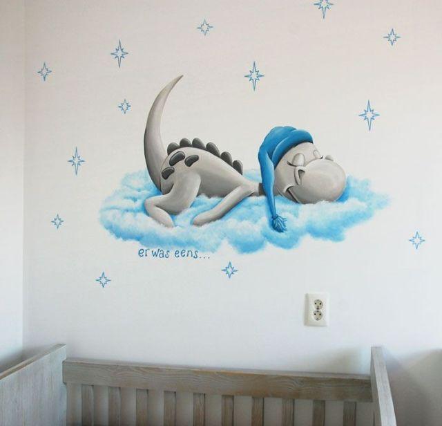Dirk Draak Babyzimmer Wanddekoration, schöner Drache aus Prenatal Es war einmal eine Serie