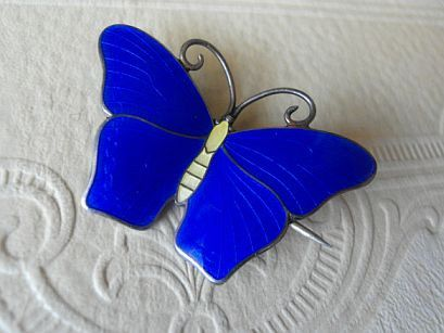 Kristian M Hestenes Brooch Sterling Jewelry Scandonavian Modernist Jewelry Butterfly Brooch Sale