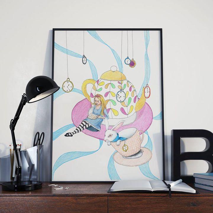 O+Alence+-+originál+Jemná+kresba+profesionálními+pastelkami+Na+kvalitním+papíře+vyšší+gramáže+originál,+signováno+Rozměr+A3,+vhodné+pro+rám+nebo+paspartu+Rámeček+na+obrázku+je+pouze+ilustrační