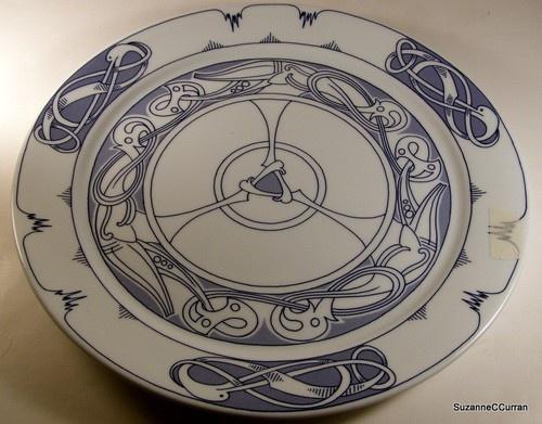 Vintage Porsgrund Norway Blue White Platter Jorgen Otteren | eBay