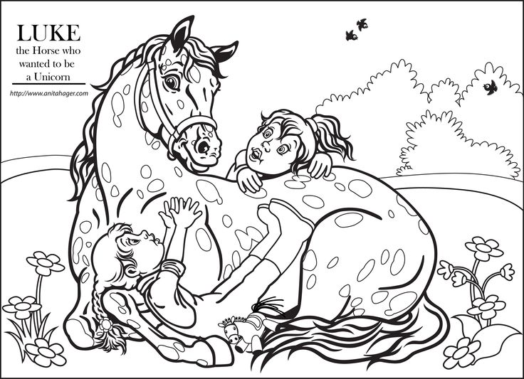 Unicorn horses coloring pages - photo#42