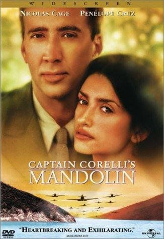 When a fisherman leaves to fight with the Greek army during WWII, his fiancee falls in love with the local Italian commander. (131 mins.) Director: John Madden Stars: Nicolas Cage, Penélope Cruz, John Hurt, Christian Bale