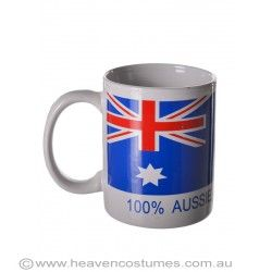 Celebrate being an Australian all year round with this awesome Aussie mug. Find it now at http://www.heavencostumes.com.au/100-aussie-australia-day-mug.html