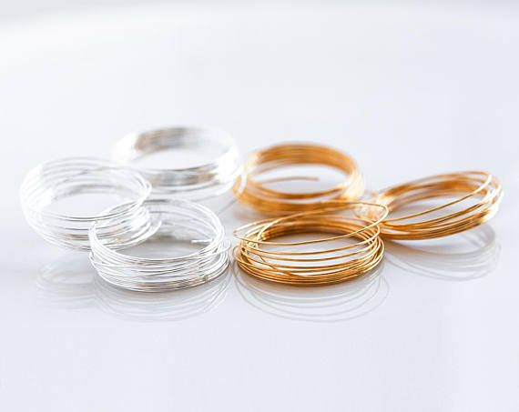 2966 Jewelry assorted wire 24 gauge Gold plated wire 0.5mm