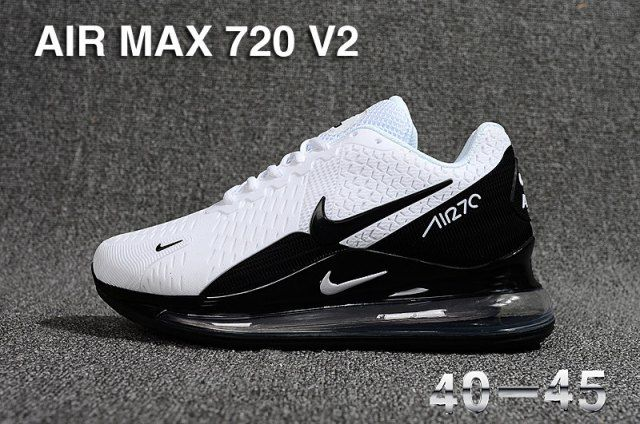 Nike Air Max Flyknit 720 270 Black White Sneakers Men's Running Shoes