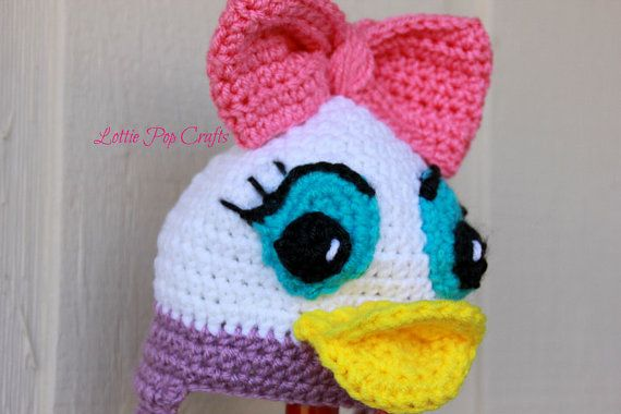 Daisy Duck Hat  Daisy Duck Crochet Hat  Disney Crochet