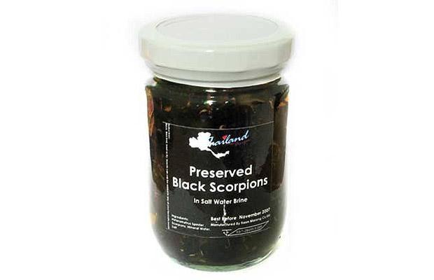 Don't like smokey BBQ Scorpions? Then try preserved black scorpions