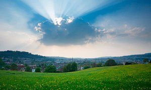 Bath city skyline from Bathwick Hill