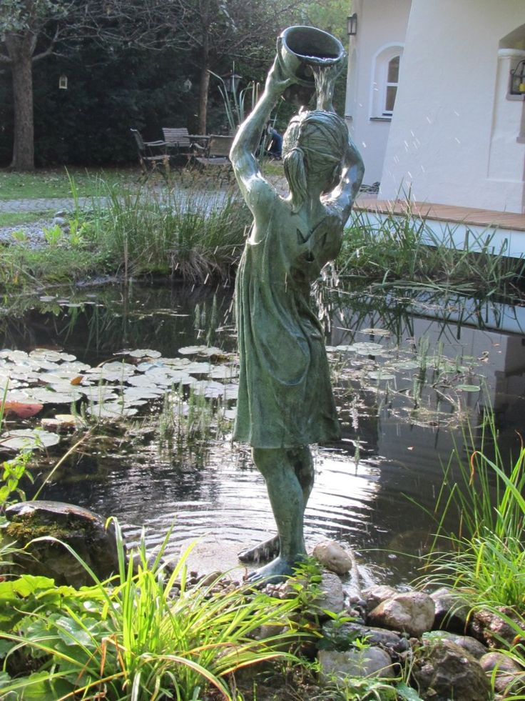 228 best striking garden statuary images on pinterest for Best pond fountains