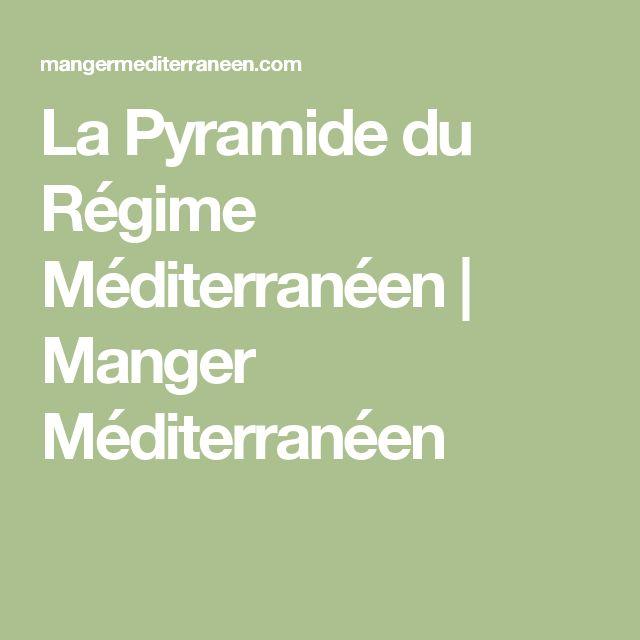 La Pyramide du Régime Méditerranéen   Manger Méditerranéen