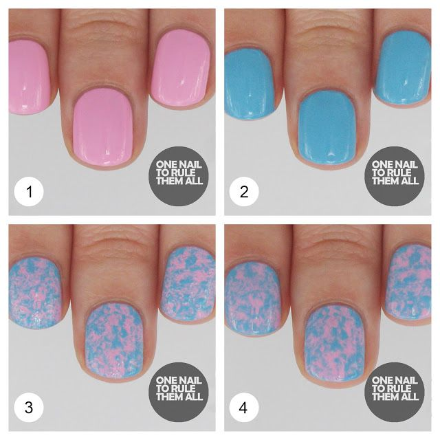 One Nail To Rule Them All: Tutorial Tuesday: Saran Wrap Nails