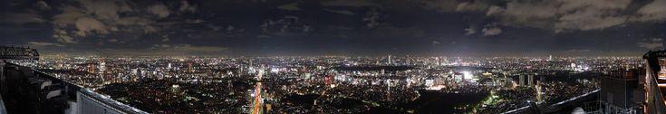 六本木ヒルズ・東京スカイデッキ パノラマ写真自動スクロール