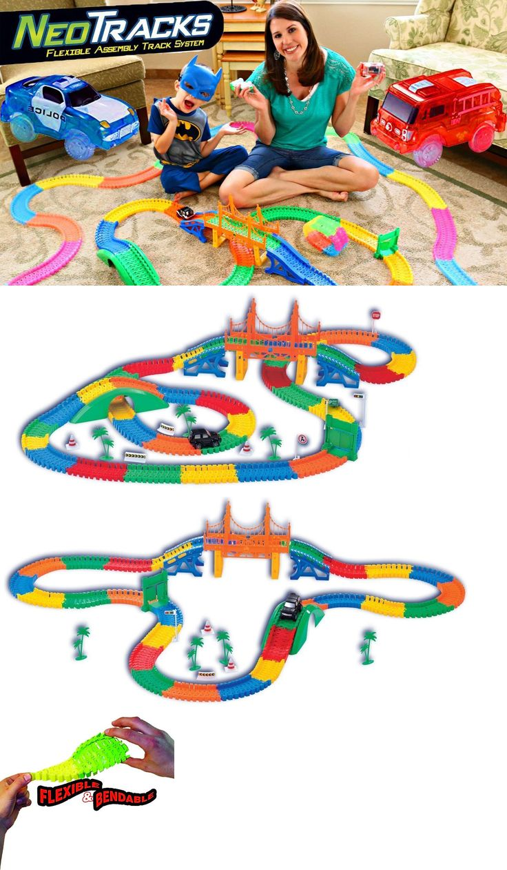 Track 2500: Neo Tracks Flexible System By Mindscope Toy Train Car Race Rubber Trailers Kids -> BUY IT NOW ONLY: $33.99 on eBay!