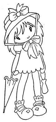 girl with umbrella MIJN STEMPELS, TEMPLATES: sugar nellie