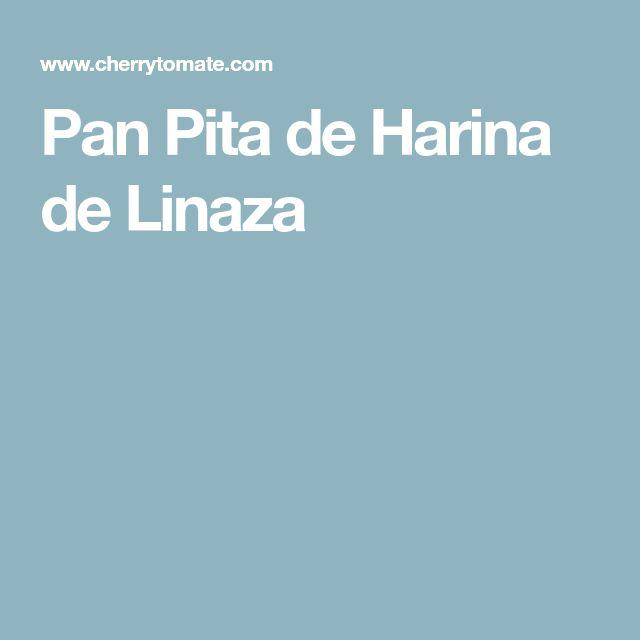 Pan Pita de Harina de Linaza