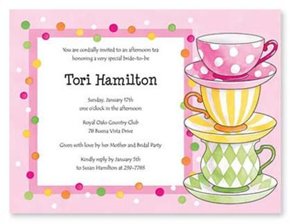 13 best tea party invitation inspiration templates images for Morning tea invitation template free
