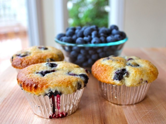 Buttermilk Blueberry Muffins - made them today! Next time use a little ...