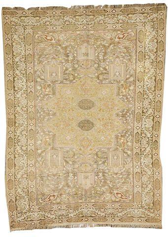 Keyseri rug  size approximately 4ft. x 5ft. 7in. I Bonhams