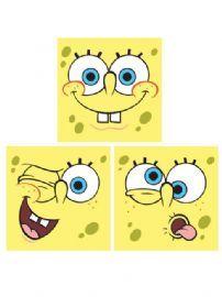 Spongebob Squarepants Wall Stickers Art Squares 3 large pieces